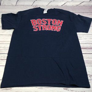 BOSTON STRONG Blue tee-shirt, pre-owned